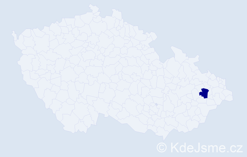 Příjmení: 'Gospodaryk', počet výskytů 2 v celé ČR