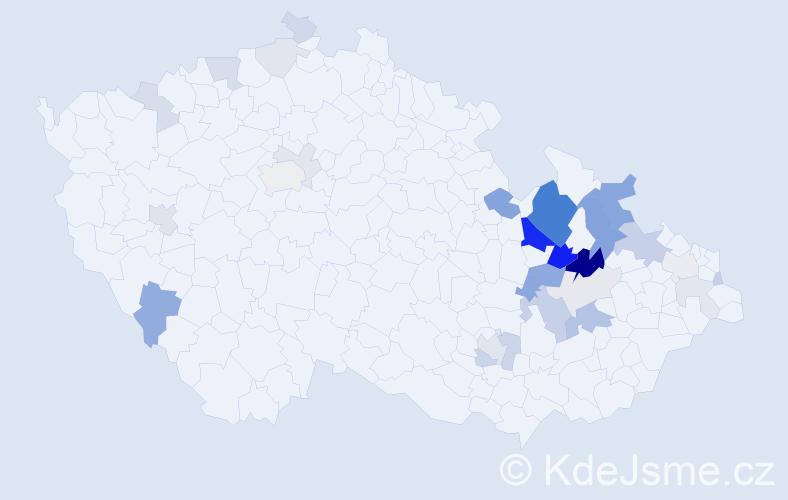 Příjmení: 'Kreuzigerová', počet výskytů 87 v celé ČR