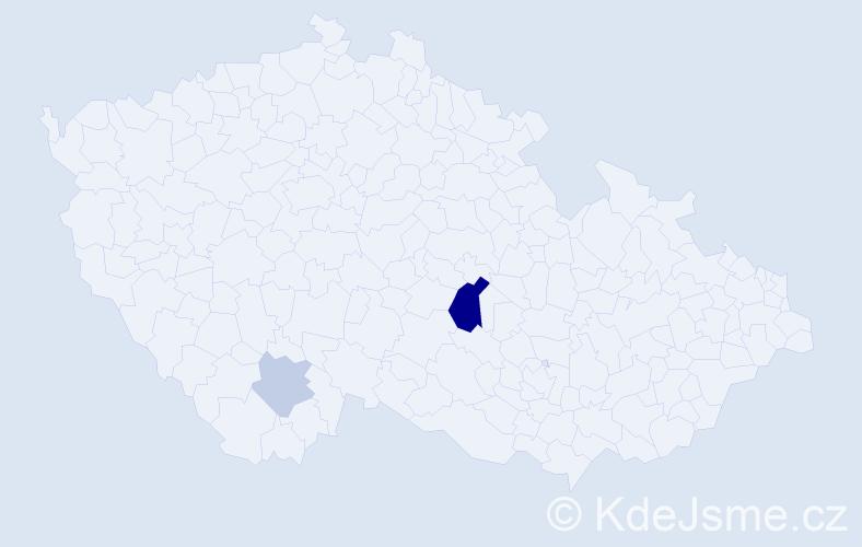 Příjmení: 'Fasching', počet výskytů 5 v celé ČR