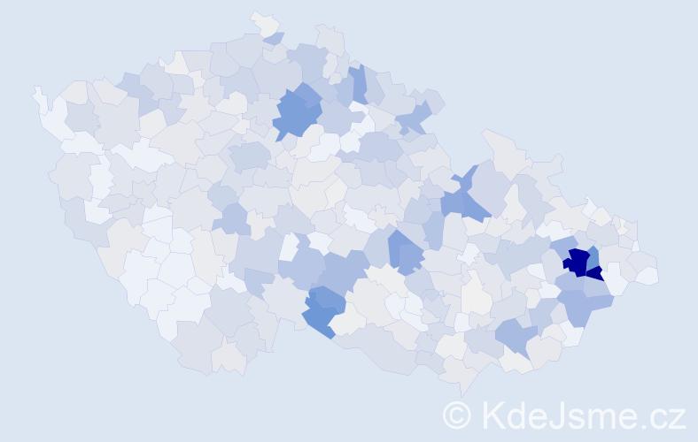 Příjmení: 'Bartoň', počet výskytů 2466 v celé ČR