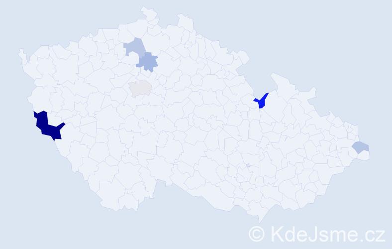 Příjmení: 'Cimbolinec', počet výskytů 12 v celé ČR