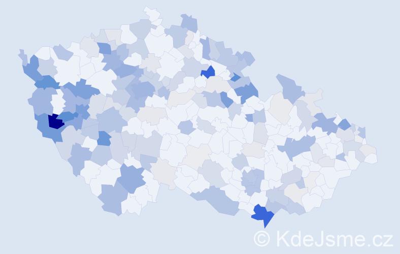 Příjmení: 'Jung', počet výskytů 604 v celé ČR