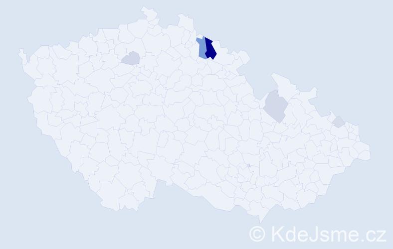 Příjmení: 'Bjelka', počet výskytů 20 v celé ČR