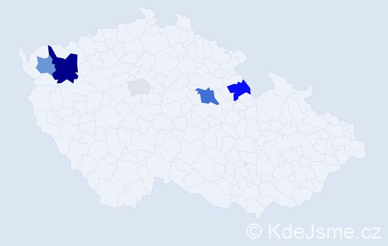 Příjmení: 'Karpiš', počet výskytů 8 v celé ČR