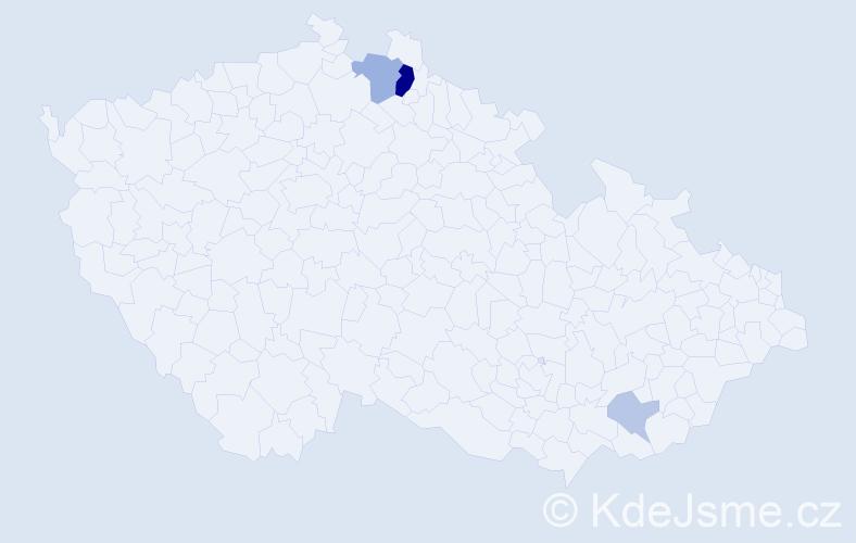 Příjmení: 'Francke', počet výskytů 9 v celé ČR