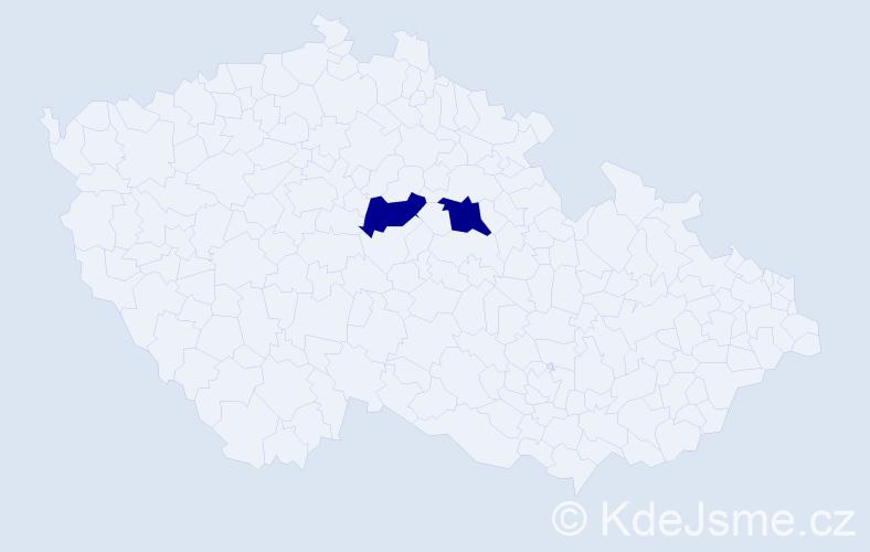 Příjmení: 'Dubravčík', počet výskytů 7 v celé ČR