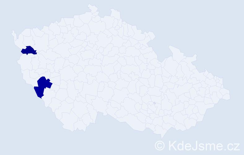Příjmení: 'Chanasz', počet výskytů 3 v celé ČR