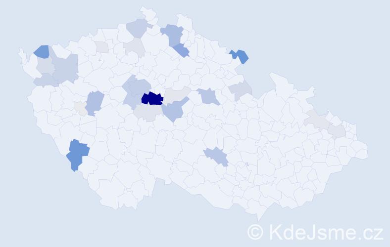 Příjmení: 'Chejn', počet výskytů 111 v celé ČR