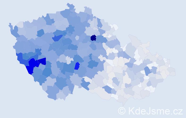 Příjmení: 'Kohout', počet výskytů 3848 v celé ČR