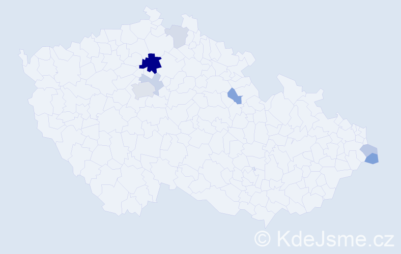 Příjmení: 'Groušl', počet výskytů 16 v celé ČR