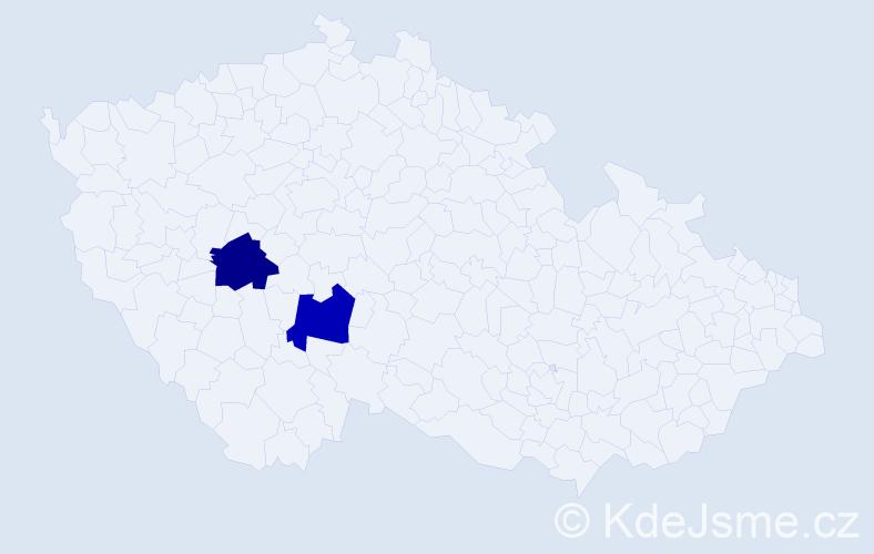 Příjmení: 'Grauliková', počet výskytů 2 v celé ČR