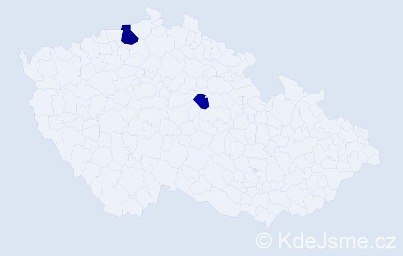 Příjmení: 'Audiová', počet výskytů 5 v celé ČR
