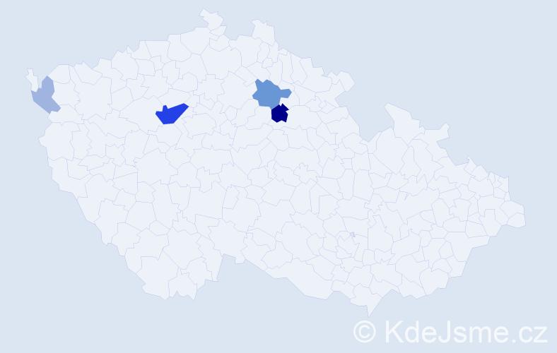 Příjmení: 'Hořejšková', počet výskytů 12 v celé ČR