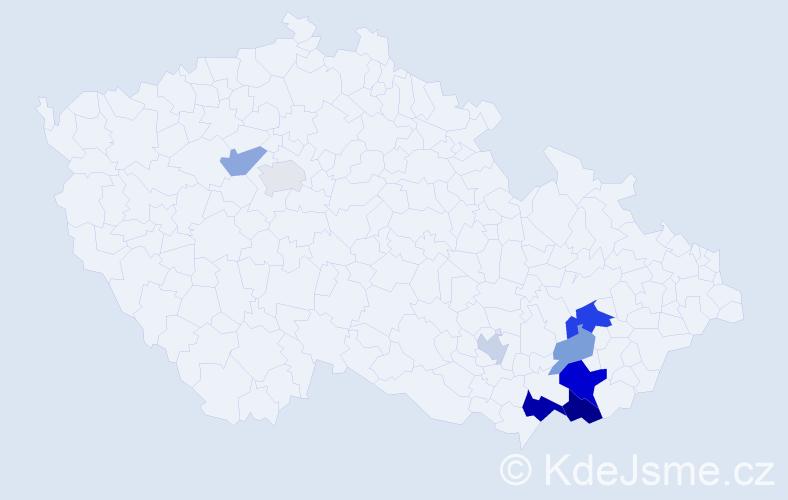 Příjmení: 'Holomčíková', počet výskytů 30 v celé ČR