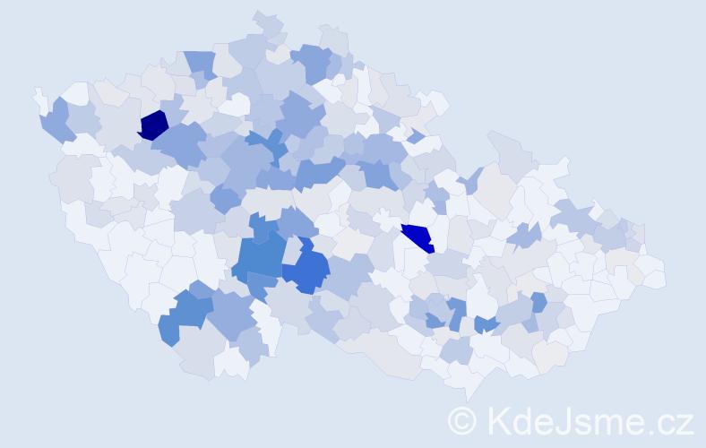 Příjmení: 'Kukla', počet výskytů 1145 v celé ČR