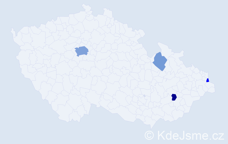 Příjmení: 'Gača', počet výskytů 11 v celé ČR