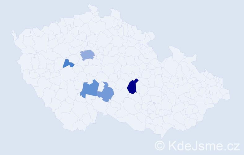 Příjmení: 'Entlicherová', počet výskytů 16 v celé ČR