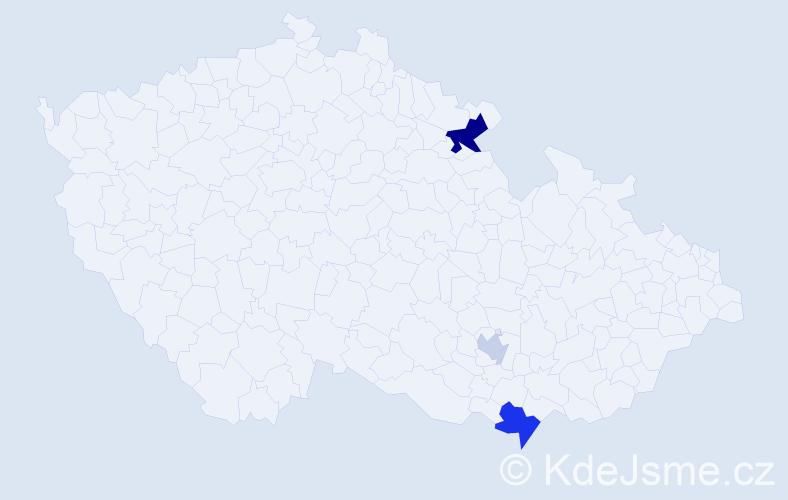 Příjmení: 'Ilkovič', počet výskytů 6 v celé ČR