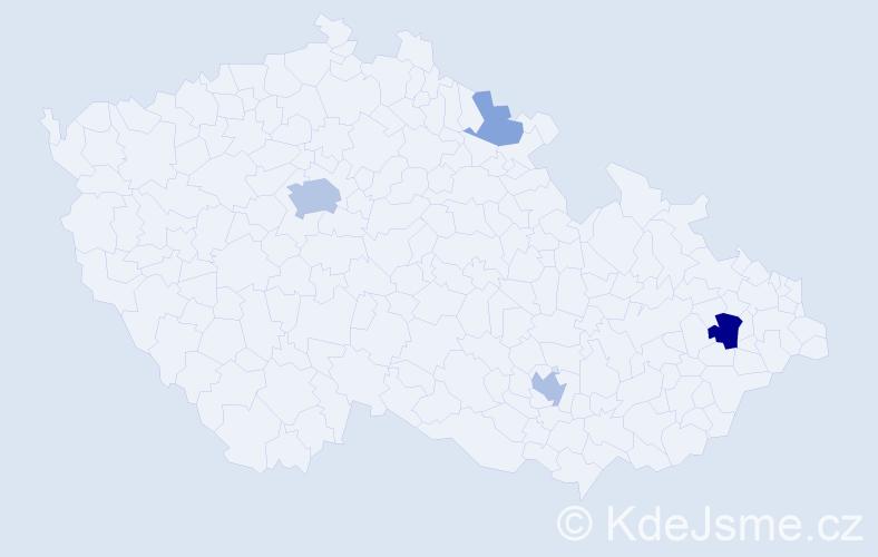 Příjmení: 'Blanco', počet výskytů 11 v celé ČR