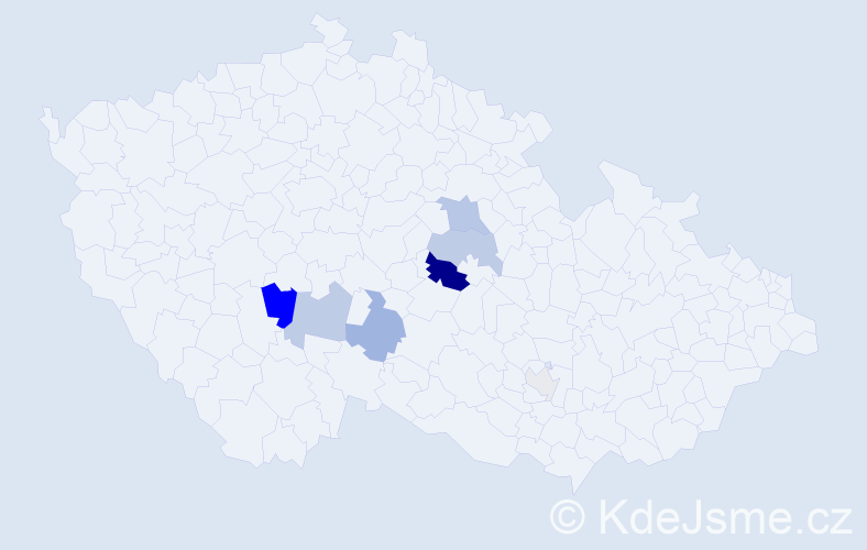 Příjmení: 'Ilich', počet výskytů 20 v celé ČR