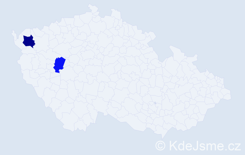 Příjmení: 'Knorrková', počet výskytů 3 v celé ČR
