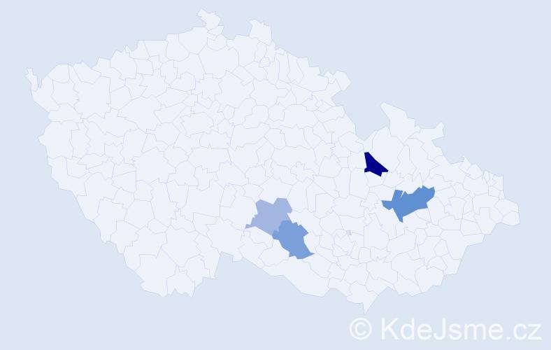 Příjmení: 'Focher', počet výskytů 17 v celé ČR