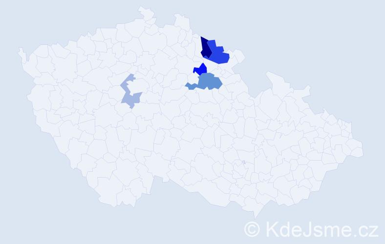 Příjmení: 'Herbsová', počet výskytů 10 v celé ČR