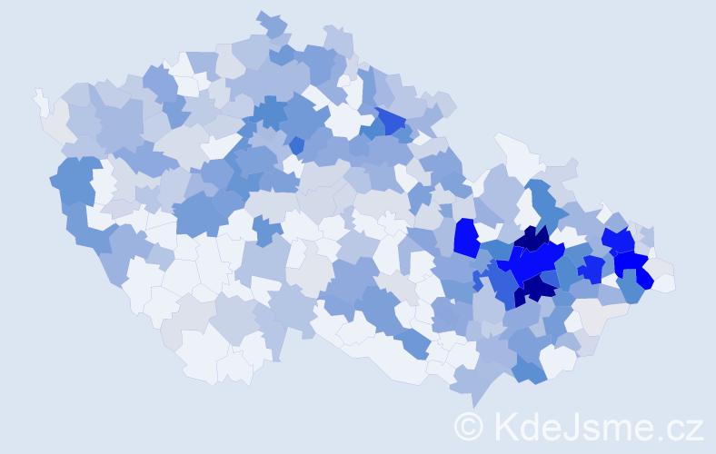 Příjmení: 'Dvorský', počet výskytů 1204 v celé ČR