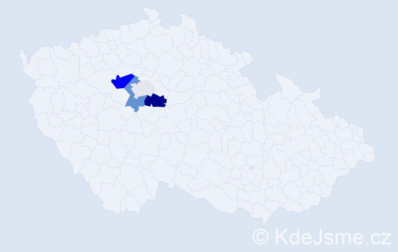 Příjmení: 'Dib', počet výskytů 10 v celé ČR