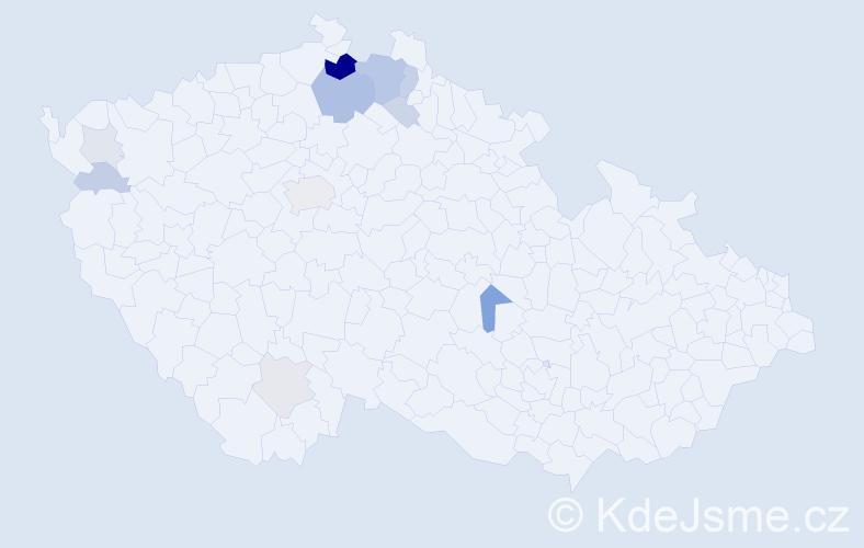 Příjmení: 'Lamatová', počet výskytů 31 v celé ČR
