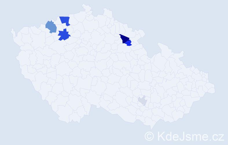 Příjmení: 'Jugl', počet výskytů 12 v celé ČR