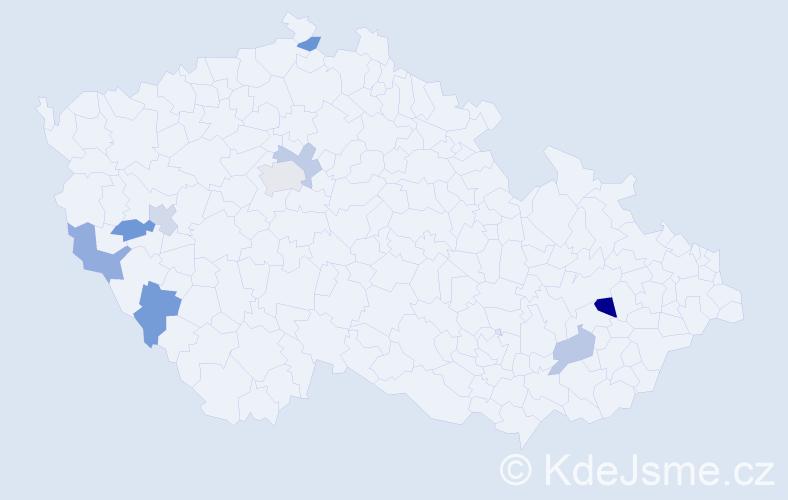 Příjmení: 'Kostrouch', počet výskytů 11 v celé ČR