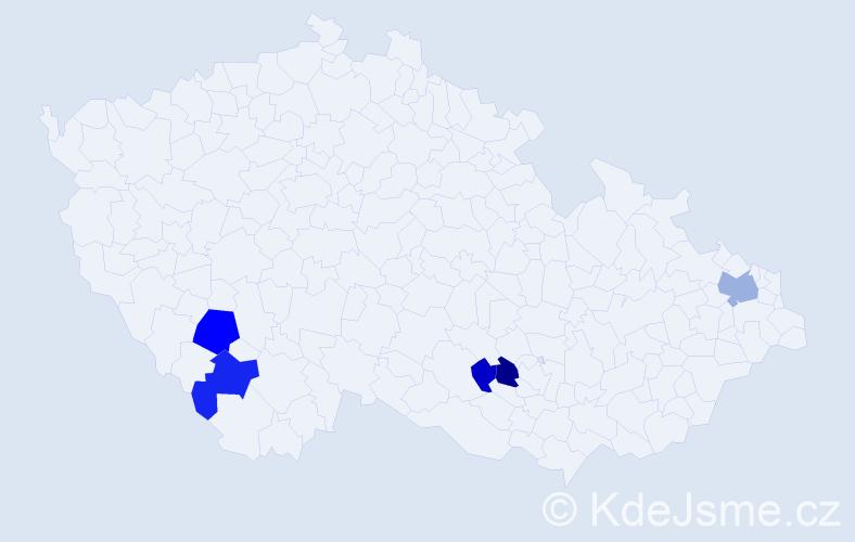 Příjmení: 'Bende', počet výskytů 11 v celé ČR