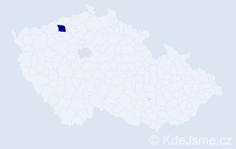 Příjmení: 'Lesev', počet výskytů 4 v celé ČR
