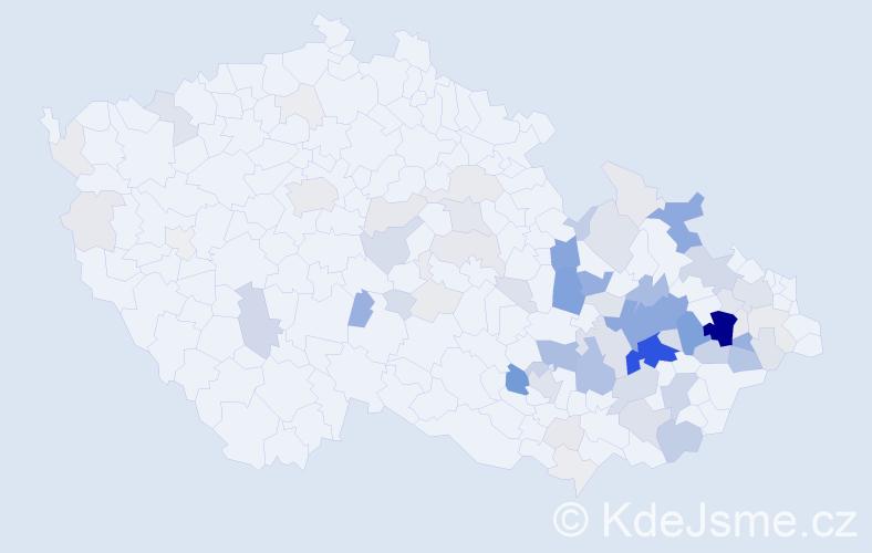 Příjmení: 'Dorazilová', počet výskytů 325 v celé ČR