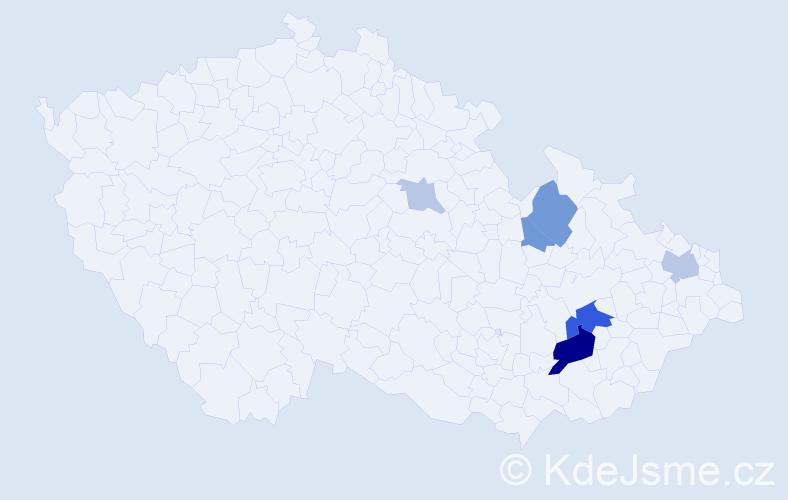 Příjmení: 'Glozyga', počet výskytů 16 v celé ČR