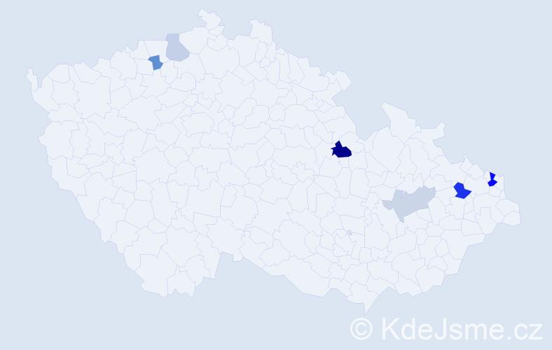 Příjmení: 'Čopianová', počet výskytů 12 v celé ČR