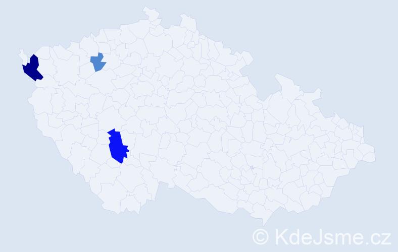 Příjmení: 'Irber', počet výskytů 8 v celé ČR