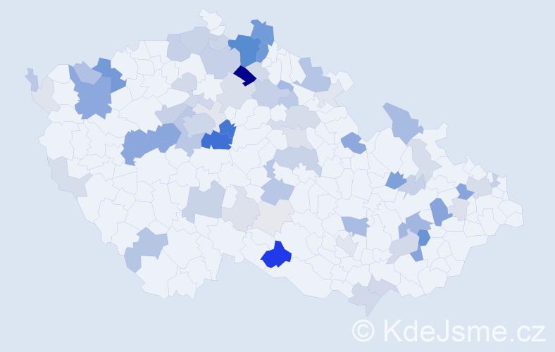 Příjmení: 'Hybnerová', počet výskytů 238 v celé ČR