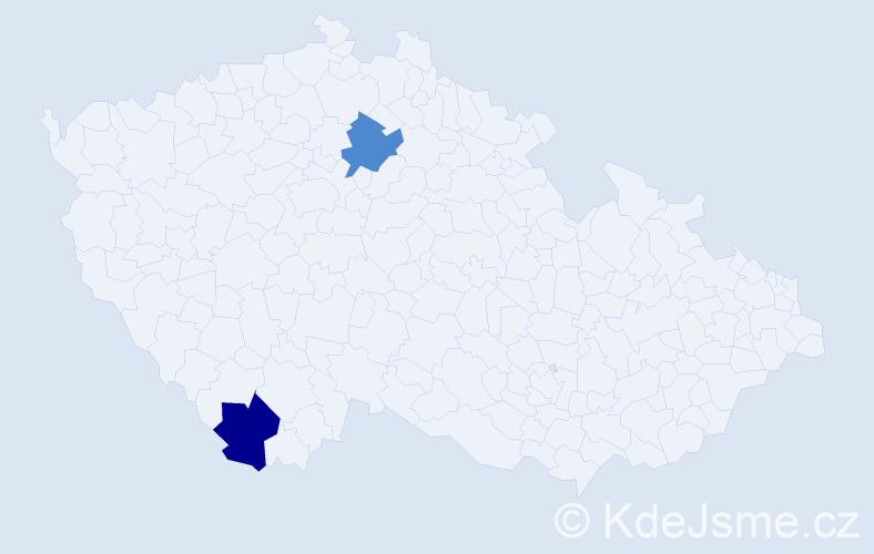Příjmení: 'Ivanczuk', počet výskytů 2 v celé ČR