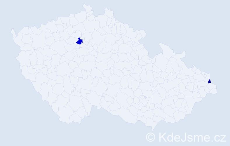 Příjmení: 'Landi', počet výskytů 4 v celé ČR