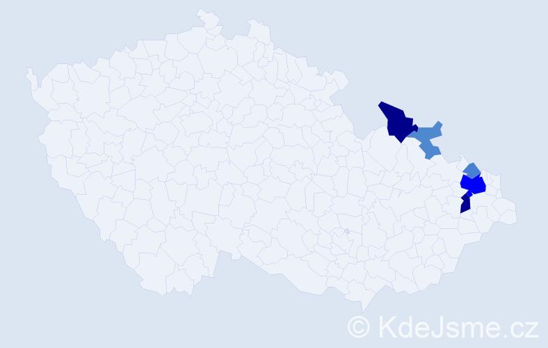 Příjmení: 'Augustynková', počet výskytů 14 v celé ČR