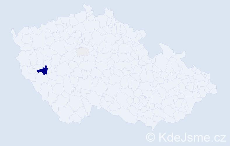 Příjmení: 'Bajraktari', počet výskytů 4 v celé ČR