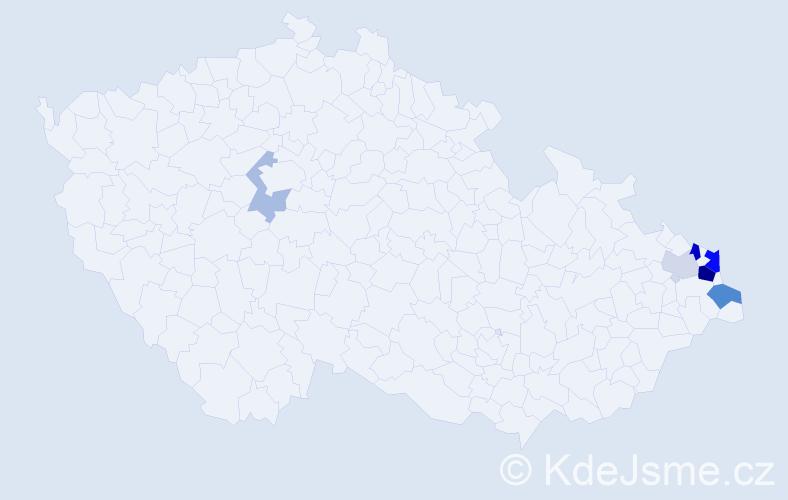 Příjmení: 'Gałuszka', počet výskytů 16 v celé ČR