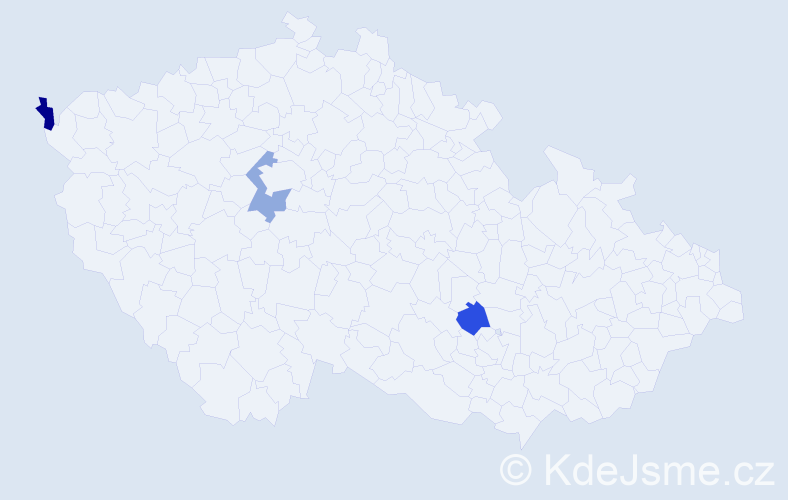 Příjmení: 'Eichenbergerová', počet výskytů 3 v celé ČR