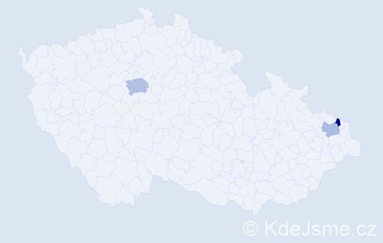 Příjmení: 'Hatiarová', počet výskytů 10 v celé ČR