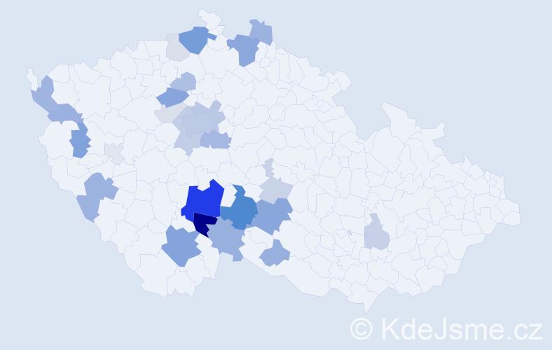 Příjmení: 'Čamra', počet výskytů 81 v celé ČR