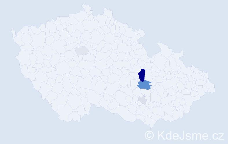 Příjmení: 'Lamařová', počet výskytů 8 v celé ČR