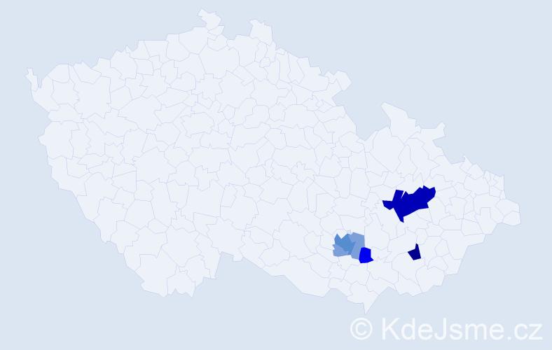 Příjmení: 'Lažnovská', počet výskytů 16 v celé ČR