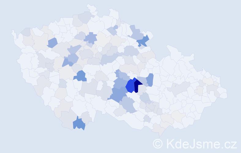 Příjmení: 'Laštovička', počet výskytů 416 v celé ČR